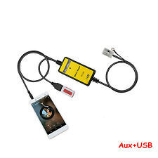 Car USB MP3 Interface Adapter AUX In Input For 12Pin VW Skoda Seat Quadlock