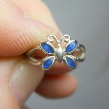 BUTTERFLY Enameled Sterling Silver 925 Vintage Estate TOE Ring - Sizeable
