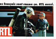 PUBLICITE ADVERTISING 025  1993  RTL radio   ( 2p)  pompier