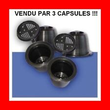 "3 Capsules rechargeable compatible nespresso coffeeduck ""expresso dosette"""