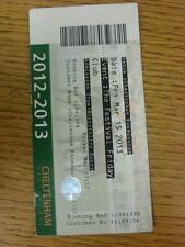 15/03/2013 Horse Racing Ticket: Cheltenham Festival - Festival Friday, Hospitali