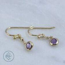 Sterling Silver 18K Gold - VICTORIA TOWNSEND Amethyst Disc 1g - Dangle Earrings