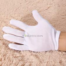 12Pairs General Purpose White Cotton Moisturising Lining Gloves Health Work New