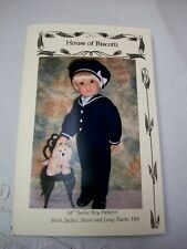 "18"" Boy Sailor Suit Pattern, Kidz n Cats  Shirt, Long, Short Pants, Jacket, Hat"
