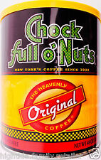 Chock full o'Nuts Ground Coffee Original Heavenly Medium Roast New York 48oz.