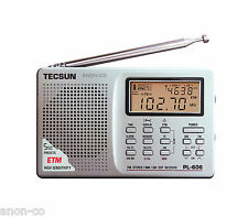 TECSUN PL-606 (Silver Color) PLL DSP Radio FM/MW/SW       ENGLISH VERSION