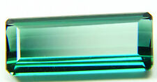 Natural blue-green Tourmaline,6.09ct,8x17mm , emerald cut, for ring , Brazil,25