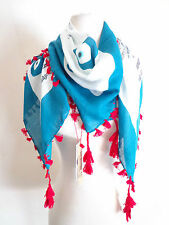 SIR ALISTAIR RAI Evil Blue Eye Lucky Charm White Scarf Protects from Bad Karma