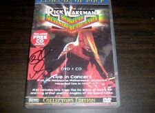"RICK WAKEMAN-""JOURNEY TO CENTRE OF EARTH"" DVD & BONUS CD-2 AUTOS - UK IMPORT -VG"