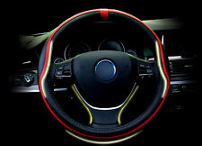 FOR BMW X5 E70 2008-2013 Red  Interior Steering Wheel Cover Protector Trim 1pcs