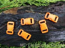 5 x 10MM 3/8 ORANGE CONTOURED QUICK RELEASE CURVED PARACORD SURVIVAL BUCKLES