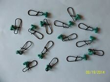 FISHING LINE SINKER SLIDES FOR BRAID 25 PCS GREEN / BLACK FREE USA SHIPPING