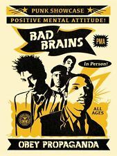 Shepard Fairey BAD BRAINS Rock for Light PRINT Poster Black S/N /350 Obey Giant