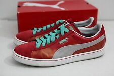 Puma Suede Classics Colorburn Red Gray Aqua Men's Size 13 Sneakers UK 12 EUR 47