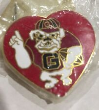 Georgia Bulldog #1 Football Pin, Big Red Heart - SEC
