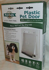 NEW  PetSafe Plastic SMALL S Dog Pet Door Premium PPA00-1095 WHITE 1-15 LB'S