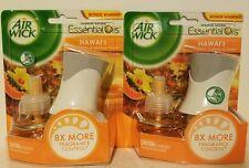 2 Air Wick Essential Oils Warmer + 1 Refill, Hawai'i Fragrance