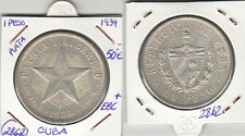 F2862 MONEDA CARIBE 1 PESO 1934 PLATA EBC+