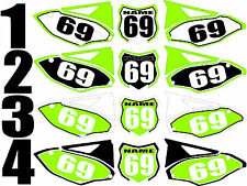 2012-2015 Kawasaki KX450f KX 450f KXF Number Plates Side Panels Graphics Decal