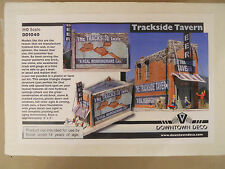 HO SCALE DOWNTOWN DECO TRACKSIDE TAVERN HYDROCAL CRAFTSMAN BUILDING KIT