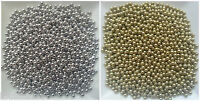 4mm Edible sugar balls dragees sprinkles -gold, silver cake decorations