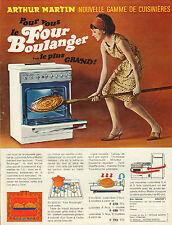 Publicité Advertising 1966  ARTHUR MARTIN gamme de cuisinières Four Boulanger