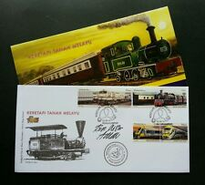 Malaysia Train 2010  Railway Locomotive KTM Vehicle Transport (FDC) *Signed Rare