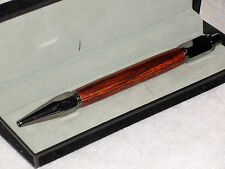 Modern Ballpoint Click Pen in Gun Metal and Exotic Cocobolo in a Velvet Box