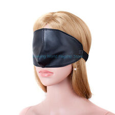 PU Leather Mask Hood Goggles Suffocation Blindness Eye Mask For Adult Roleplay
