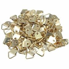 50 Pcs Golden Triangle D Rings Hanger Picture Frame Hanging Hook With Screws