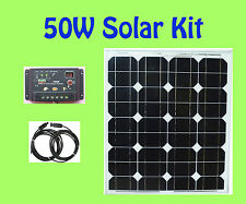 50W Watt Solar Panel panneau solaire Kit controller 12V RV Boat Camping