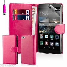 32nd Book Wallet PU Leather Case Cover for Huawei Phones + Screen Protector