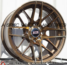 15X8 STR 511 WHEELS 4X100 TITANIUM RIMS +20 FITS 4 LUG CIVIC JETTA MIATA XB EK
