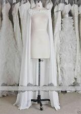 Chiffon Wraps Vintage Wedding Jacket Bridal Cloak Lace Bridal Dress's Cape New