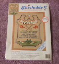 DIMENSIONS STITCHABLES Counted Cross Stitch Kit  GOLF & TAXES  with Frame