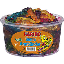 "1 Container x HARIBO ""Bunte Armbänder / Colorful Bracelets"" 1,2kg / 2.65lbs"