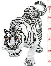 Bengal white tiger tattoo applique iron-on patch LARGE 3.88 X 5.88 inches S-1222