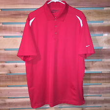 EUC MENS NIKE GOLF DRI FIT TOUR PERFORMANCE POLYESTER S/S ATHLETIC POLO SHIRT XL
