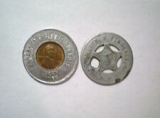 Lot of 2 Lucky Tokens Florence Miss RFD Fire Department? Pomeroys Wheat Penny