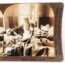 World War I Stereoview Wounded Belgian Soldier Antwerp Hospital Keystone View Co