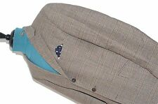 BESPOKE TOWN & COUNTRY HACKETT TWEED POW SUIT BROWN & RED CHECK UK 44R EU 54.
