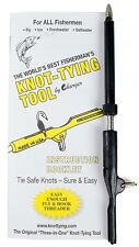 Three-In-One Knot Tying Tool With 32 Page Fly Fishing Knot Instruction Booklet