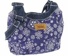 BRAND NEW LEVI'S WOMEN'S SMALL PAISLEY DENIM TOTE HANDBAG PURSE INDIGO 81917