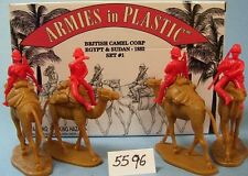 Armies in Plastic 5596 -Egypt & Sudan  British Camel Corps 1882 Set1 Figures