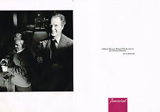 PUBLICITE ADVERTISING 084  1986  CRISTAL BACCARAT   ERIC DE ROTHSCHILD ( 2 pages