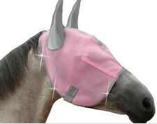 Royal Equine Pink Diamond Fly Mask with Ears Size Medium Horse Tack Equine
