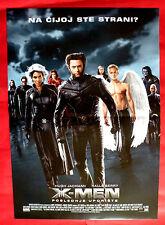 X-MEN LAST STAND PATRICK STEWART HUGH JACKMAN HALLE BERRY SERBIAN MOVIE POSTER