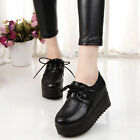 Women's High Platform Oxfords Lace Up Flats Round Toe Creeper Shoes Hot 2009