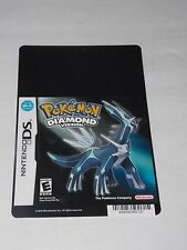 Blockbuster Display Card NINTENDO DS POKEMON DIAMOND VERSION