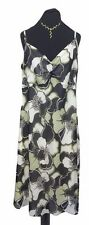 JOANNA Hope Dress Size 20 Green & Black Floral  L45in Wedding